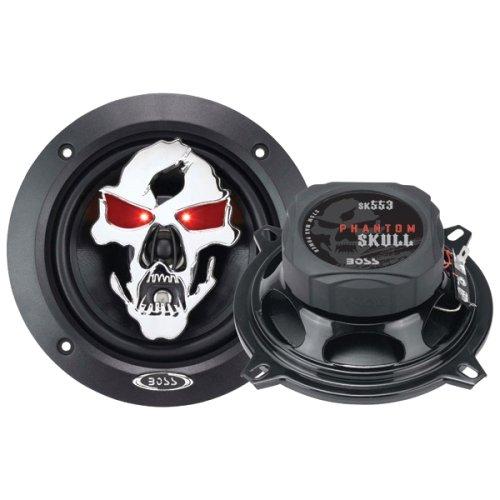 Boss Audio Systems - Boss Phantom Skull Sk553 Speaker - 3-Way - 85 Hz To 20 Khz - 4 Ohm - 5.25