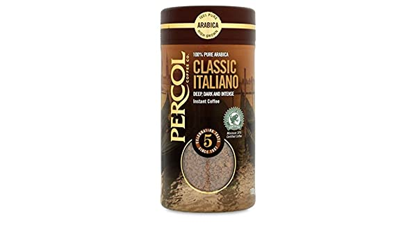 Percol Italiano 100 g de café instantáneo: Amazon.es: Alimentación y bebidas