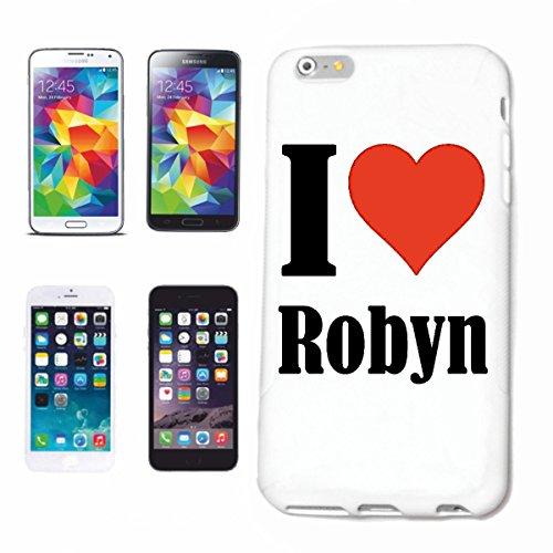"""Handyhülle iPhone 4 / 4S """"I Love Robyn"""" Hardcase Schutzhülle Handycover Smart Cover für Apple iPhone … in Weiß … Schlank und schön, das ist unser HardCase. Das Case wird mit einem Klick auf deinem Sma"""