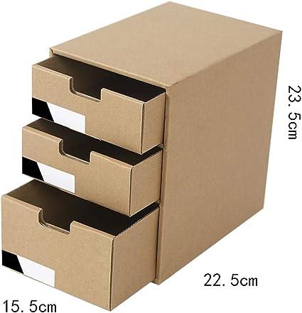 QIQIDEDIAN Caja de Almacenamiento Papel de Escritorio Caja de Almacenamiento de Escritorio Cajón de Escritorio Caja de clasificación de desechos de Archivos: Amazon.es: Hogar
