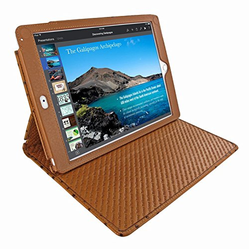 Piel Frama 643 Tan Ostrich Cinema Magnetic Leather Case for Apple iPad Air / iPad 2017 Model by Piel Frama