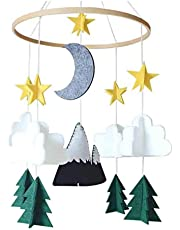 Baby Crib Mobile by LIUguoo - Starry Woodland Night Nursery Decoration | Crib Mobile for Boys and Girls