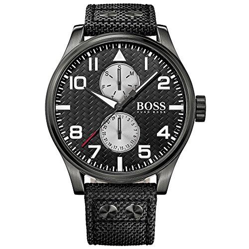 Hugo Boss 1513086 Aeroliner MAXX Mens Watch - Black Dial Stainless Steel Case Quartz Movement