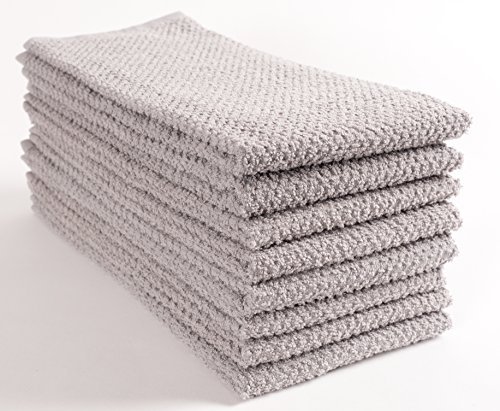 KAF Home Pantry Montclair Kitchen Towels (Set of 8, 16x26 inches), 100% Cotton, Ultra Absorbent Terry Towels - Drizzle by KAF Home (Image #2)