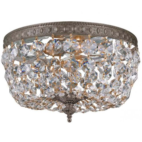 Crystorama 710-EB-CL-MWP Crystal Accents Two Light Ceiling Mounts from Richmond collection in Bronze/Darkfinish,