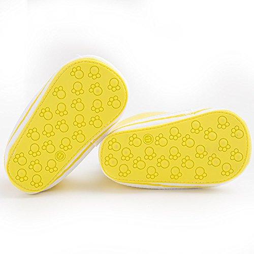 etrack-online Infant Toddler Boys Girls Lienzo zapatillas antideslizantes zapatos de exterior amarillo amarillo Talla:12-18 mes amarillo