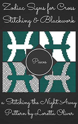 Amazoncom Pisces Zodiac Cross Stitch And Blackwork Pattern Set