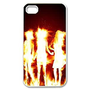 Iphone 4,4S Flame Phone Back Case Art Print Design Hard Shell Protection HB066606