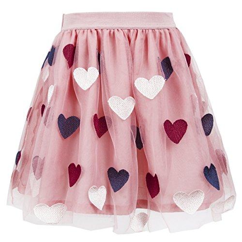 Benito & Benita Girls Tutu Skirts Tulle Princess Dress Fluffy Ballet Skirt Layered Bubble Skirt (7-8Y/128CM, ()