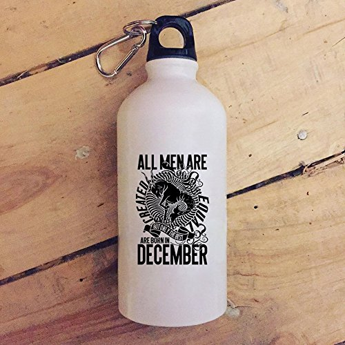 The Best Men Are Born In December 20 oz Stainless Steel Bottle,Gift For Sagittarius Outdoor Sports Water Bottle (Stainless Steel Water Bottle - White)