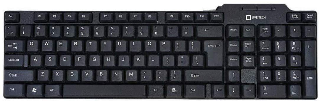 Live Tech KB 01 USB Wired Keyboard (Black)