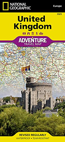 Geographic Adventure Map National Paper (United Kingdom (National Geographic Adventure Map))