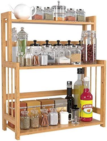 Bamboo Spice Rack Bottle Jars Holder