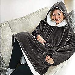Safdie & Co. Hooded Blanket Throw Wearab...