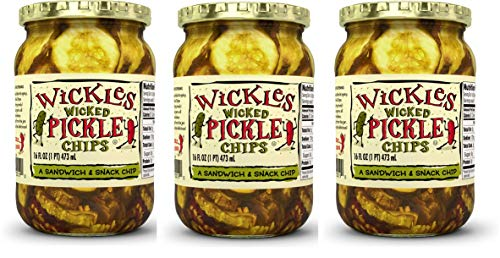 Wickles Wicked Pickle Chips, 16 oz (Pack - 3)