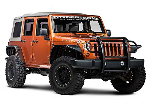 for Jeep Wrangler JK 2007-2018 Gloss Black Redrock 4x4 Grille Guard
