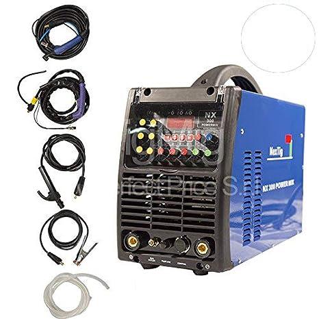 NX 300 Power Mix - Inverter Multi Processo 4 x 1 - Soldadura TIG Soldadura Tig, AC DC, soldadura MMA y corte Plasma: Amazon.es: Hogar
