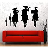 Wall Vinyl Music Mexicans Mexico Guaranteed Quality Decal VS3494