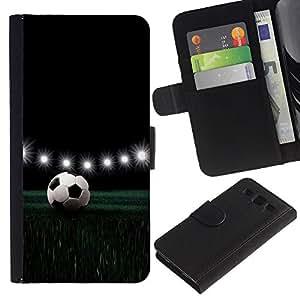 Be Good Phone Accessory // Caso del tirón Billetera de Cuero Titular de la tarjeta Carcasa Funda de Protección para Samsung Galaxy S3 III I9300 // Football Stadium Night Lamps Lights Game
