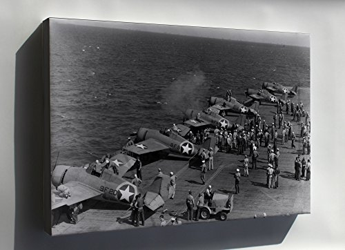 Canvas 24x36; F4F-4 Wildcat Vf-9 And Vf-41, Uss Ranger (Cv-4) (F4f 4 Wildcat)