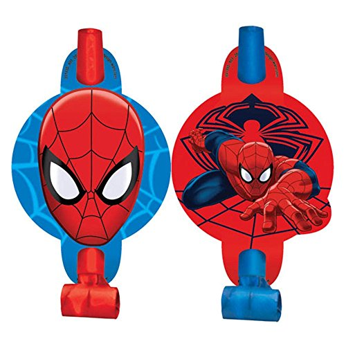 """Spiderman 5"""" Blowouts (8 Pack) - Party Supplies"""