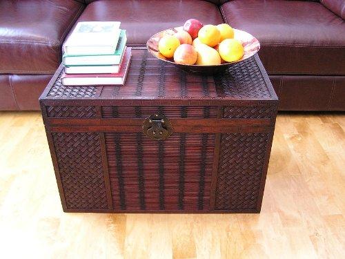 Original Hawaii Wooden Chest Wood Steamer Trunk - Large Trunk