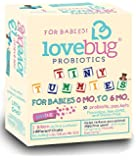 Lovebug Tiny Tummies Probiotic, 30 Packets, Infant and Baby probiotics Support for Babies 0-6 Months Old, for Intestinal and Digestive Health - Helps Reduce Crying and Fussiness