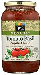 365 Everyday Value, Organic Tomato Basil Pasta Sauce, 25 oz