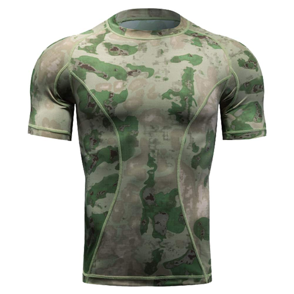 d7e61afd6125 Top3  QIAOMENG Camouflage Tactical T-Shirts Short Sleeve for Men Quick Dry  Fit Army T-Shirt Military Fashion Outdoor Hunting Clothes for Fitness  Airsoft