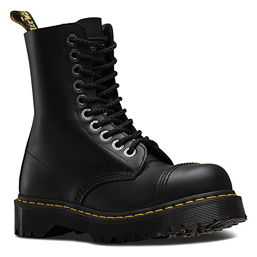 Dr. Martens Unisex 8761 BXB Boot 10-Eye Steel Cap Boot Black Fine Haircell Size UK 6 (8 M US Women) by Dr. Martens (Image #1)