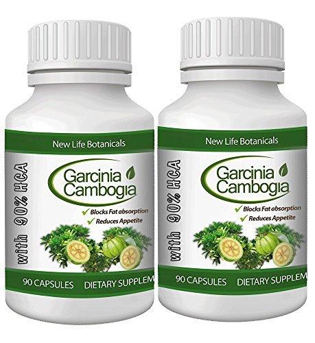 Garcinia Cambogia 90% HCA - NewLifeBotanicals 2-Bottle Va...