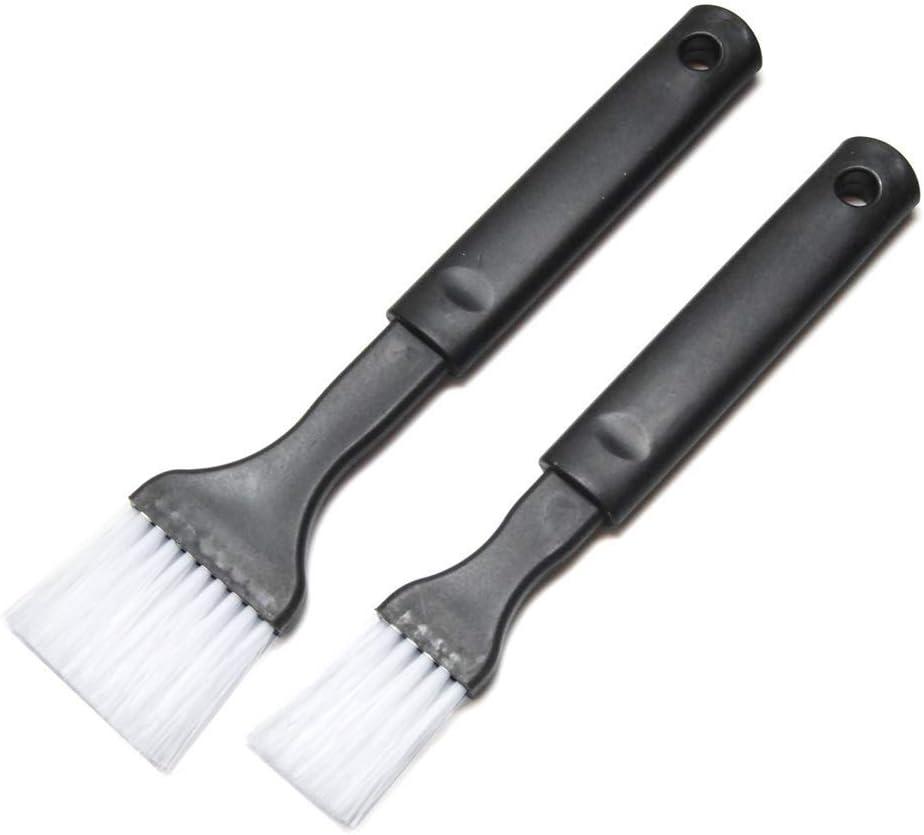 Hometeq 2 Pack - Nylon Bristle Black Pastry Brush Plastic Grip for Basting, Baking, Cooking Food Brush