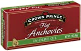 Crown Prince Flat Anchovies in Olive Oil, 2-Ounce Can