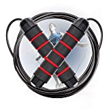 Cabepow Adjustable Jump Rope with Carrying Pouch - Cardio Jumping Rope for Men