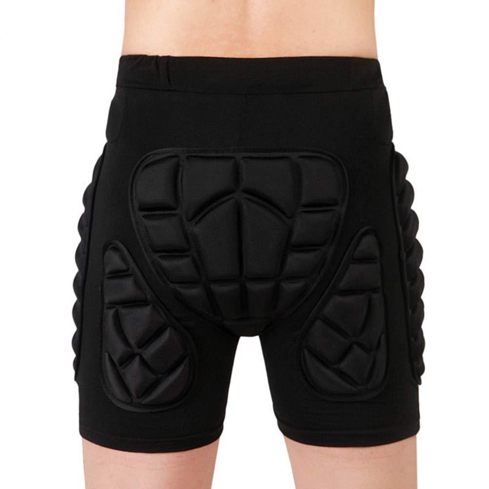 VORCOOL Pantalones Cortos de protecci/ón Acolchados en la Cadera Pantalones de Snowboard para Patinaje Sobre Ruedas Skate Equipo de protecci/ón para ni/ños Adultos Tama/ño Negro
