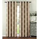 Cheap Window Elements  Venice Embroidered Faux Linen Extra Wide 108 x 84 in. Grommet Curtain Panel Pair, Ivory