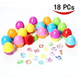 ThinkMax 18 PCs Self-ink Stamps Set for Kids Egg Stampers for Party Favors, Gifts, Prizes, Rewards, Giveaways
