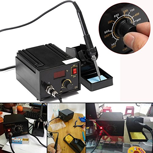 110V 220V 967 Electric Rework Soldering Station Iron LCD Display Desoldering SMD Tool