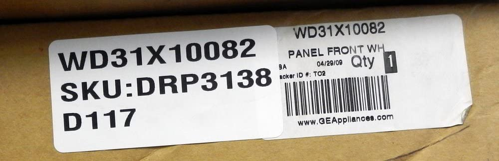 GE WD31X10082 Dishwasher Panel Front White