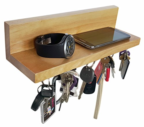 brooklyn basix premium magnetic wood key ring holder and. Black Bedroom Furniture Sets. Home Design Ideas