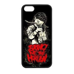 RAROFU England Sheffield Yorkshire Band Bring Me the Horizon Custom Case for iPhone 5,5S TPU (Laser Technology)