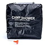 8milelake 10 Gallon/40 Litter Camp Shower Solar Heated Resistant PVC Material with On/ Off Nozzle Water Bag Perfect for Camping/Hiking Self-clean