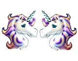 Arts & Crafts : GOER Foil Unicorn Balloons,2 Pcs 46 Inch by 34 Inch Unicorn Party Supplies for Birthday Party (Purple)