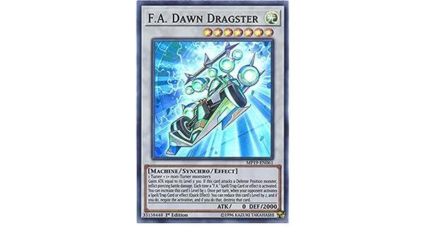 Yugioh MP19-EN061 F.A Dawn Dragster Super Rare Near Mint 1st Edition