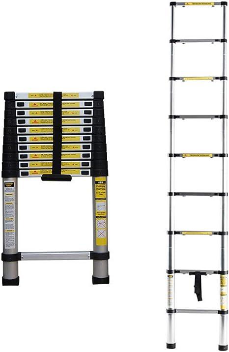 QAS Escalera de extensión de aleación de Aluminio, Escalera mecánica para el hogar, Escalera Plegable multifunción, Escalera móvil de embarque de ingeniería, Adecuada para Null/Cantidad: 2/11: Amazon.es: Deportes y aire libre