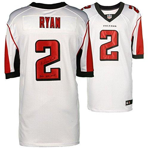- MATT RYAN Atlanta Falcons Autographed Nike White Elite Jersey with