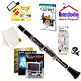 Homeschool Music - Learn to Play the Clarinet Pack (Classic Rock Music Book Bundle) - Includes Student Clarinet w/Case, DVD, Books & All Inclusive Learning Essentials