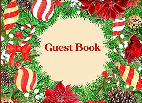 guest book sign in guest registry book for christmas parties