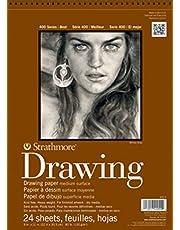 Pro-Art Strathmore tekenblok met spiraalbinding, middelgroot, 20,3 x 25,4 cm, 24 vellen