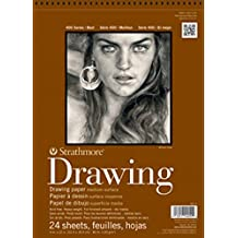 "Strathmore 400-3 400 Series Drawing Pad, 8""x10"" Wire Bound, 24 Sheets"